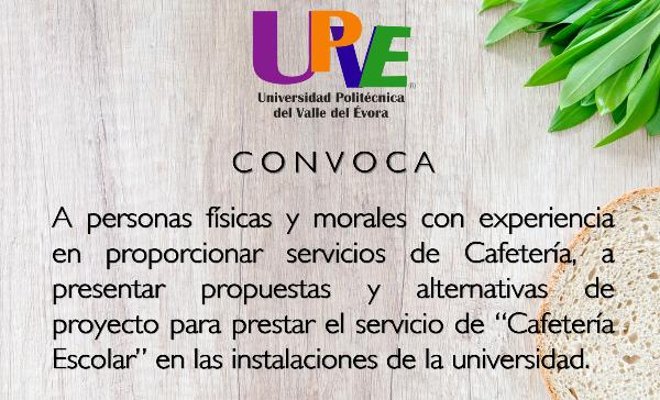 Universidad polit cnica del valle del vora upve for Cafeteria escolar proyecto